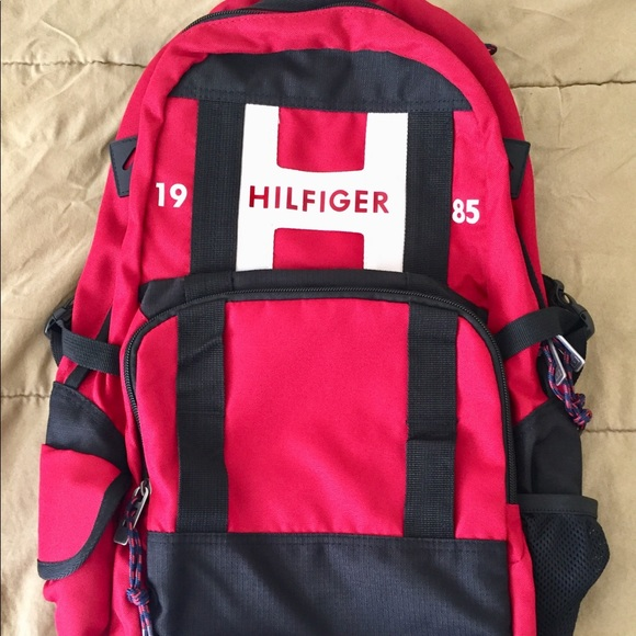 Tommy Hilfiger Raider Classic TH Red Large Backpack Laptop Travel Luggage School